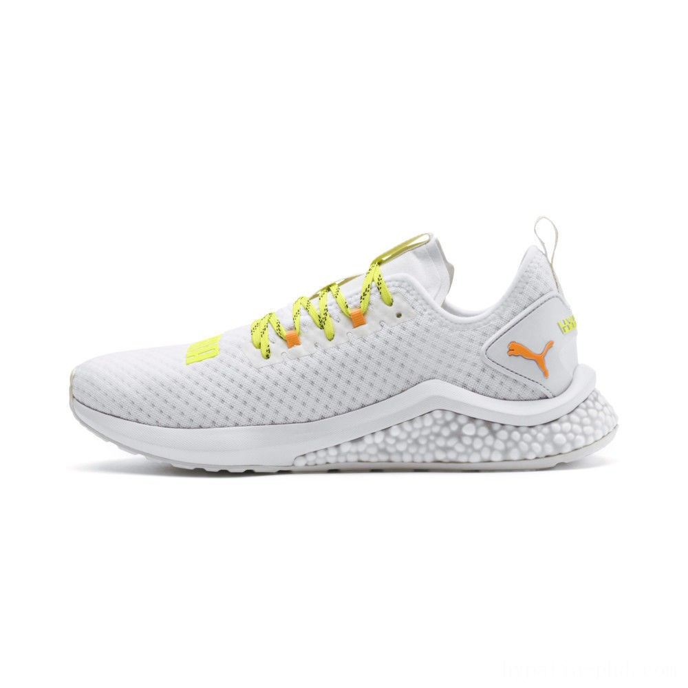 Puma HYBRID NX Daylight Men's Running Shoes White-Orange Pop-FizzyYellow Sales