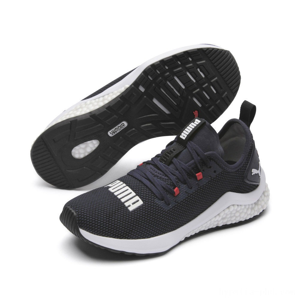 Puma HYBRID NX Running Shoes JRPeacoat-High Risk Red-White Sales