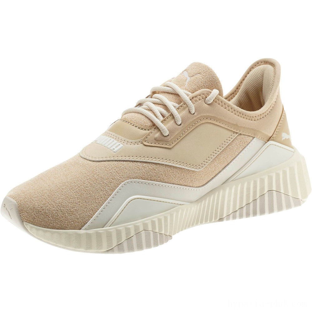 Puma DEFY Stitched Z Women's Sneakers Pebble-Whisper White Sales