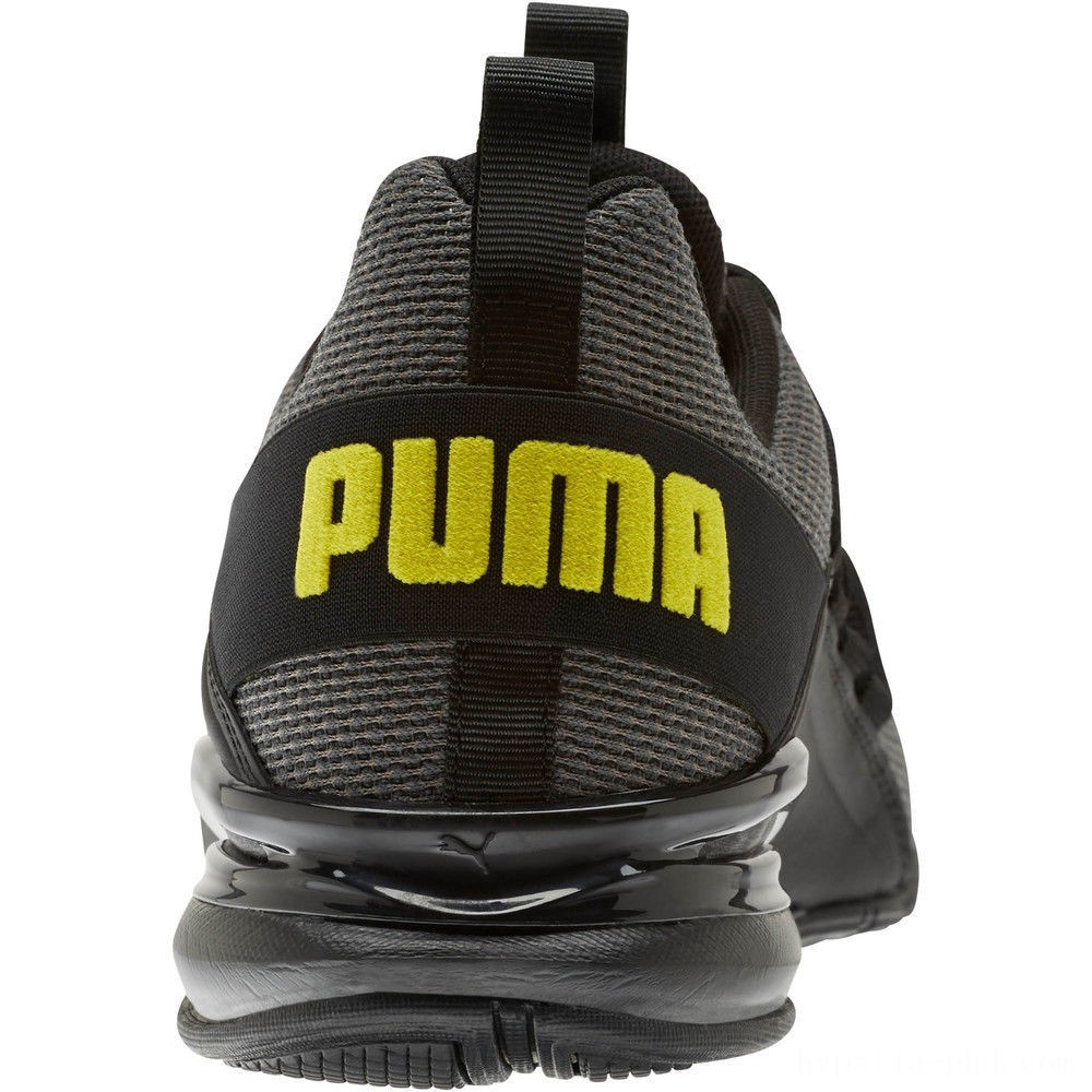 Puma Axelion Mesh Sneakers Charcoal Gray-Blazing Yellow Sales