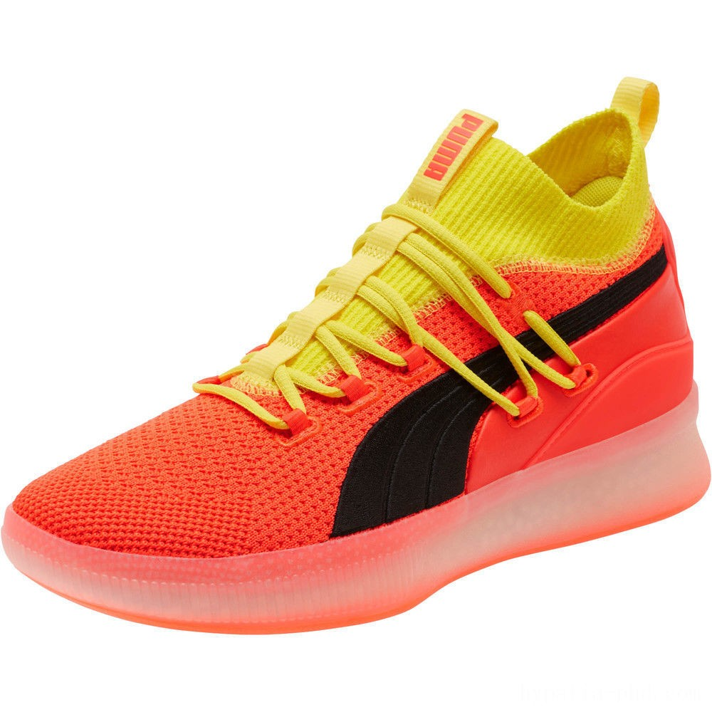 Puma Clyde Court Basketball Shoes JRRed Blast Sales