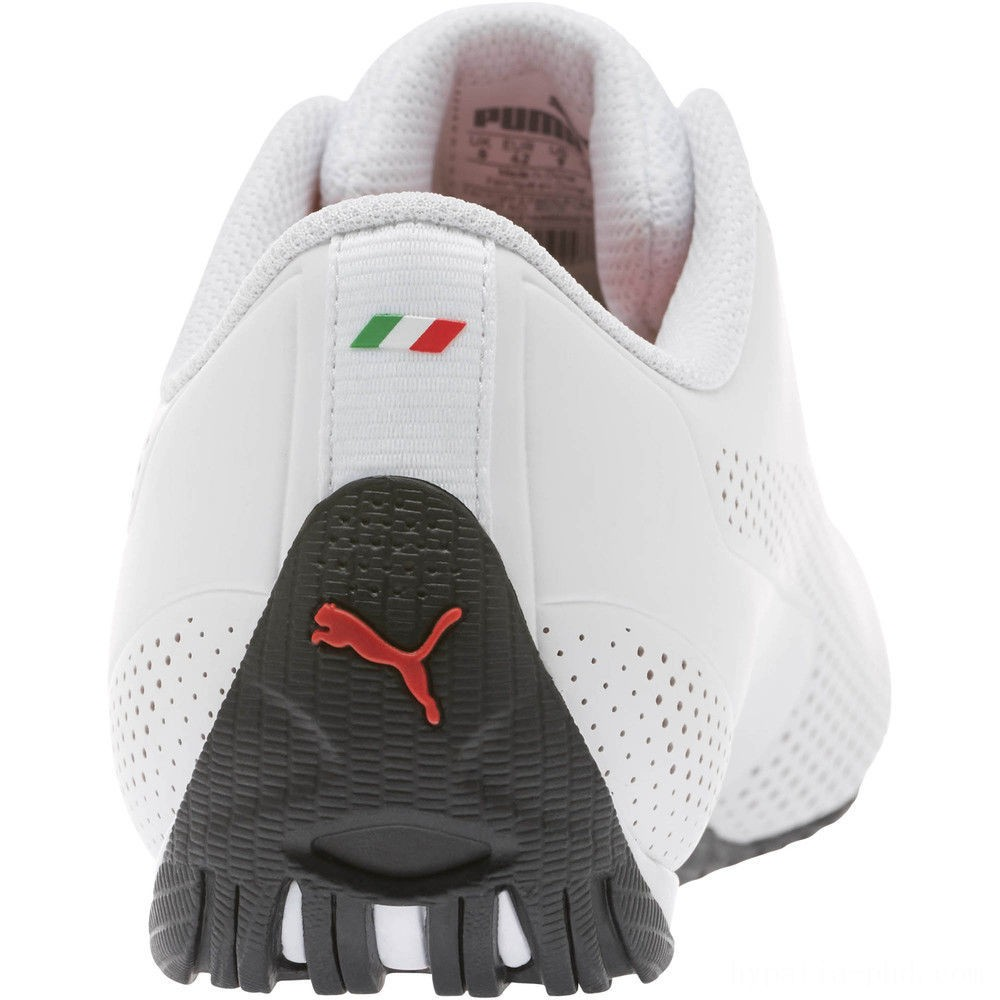 Puma Scuderia Ferrari Drift Cat 5 Ultra Sneakers White-Rosso Corsa-Black Sales