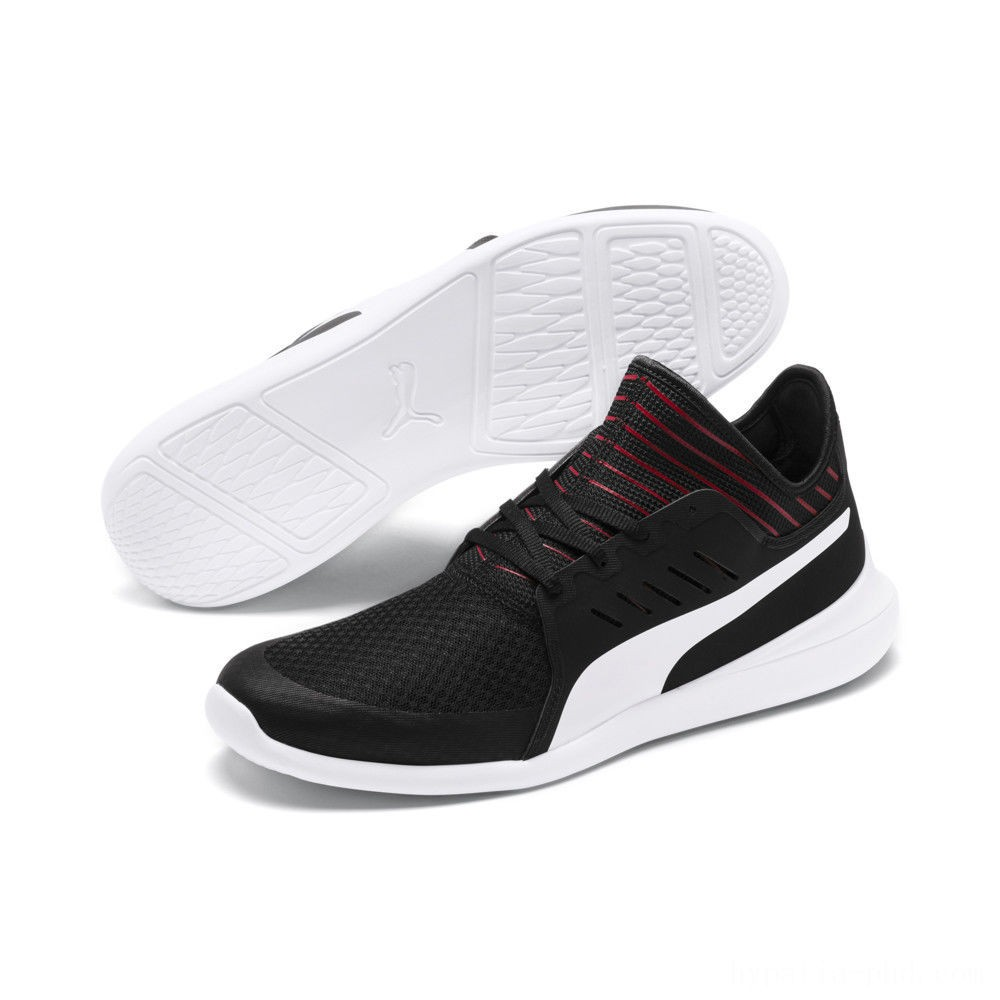 Puma Scuderia Ferrari Evo Cat Mace Sneakers Black- White Sales