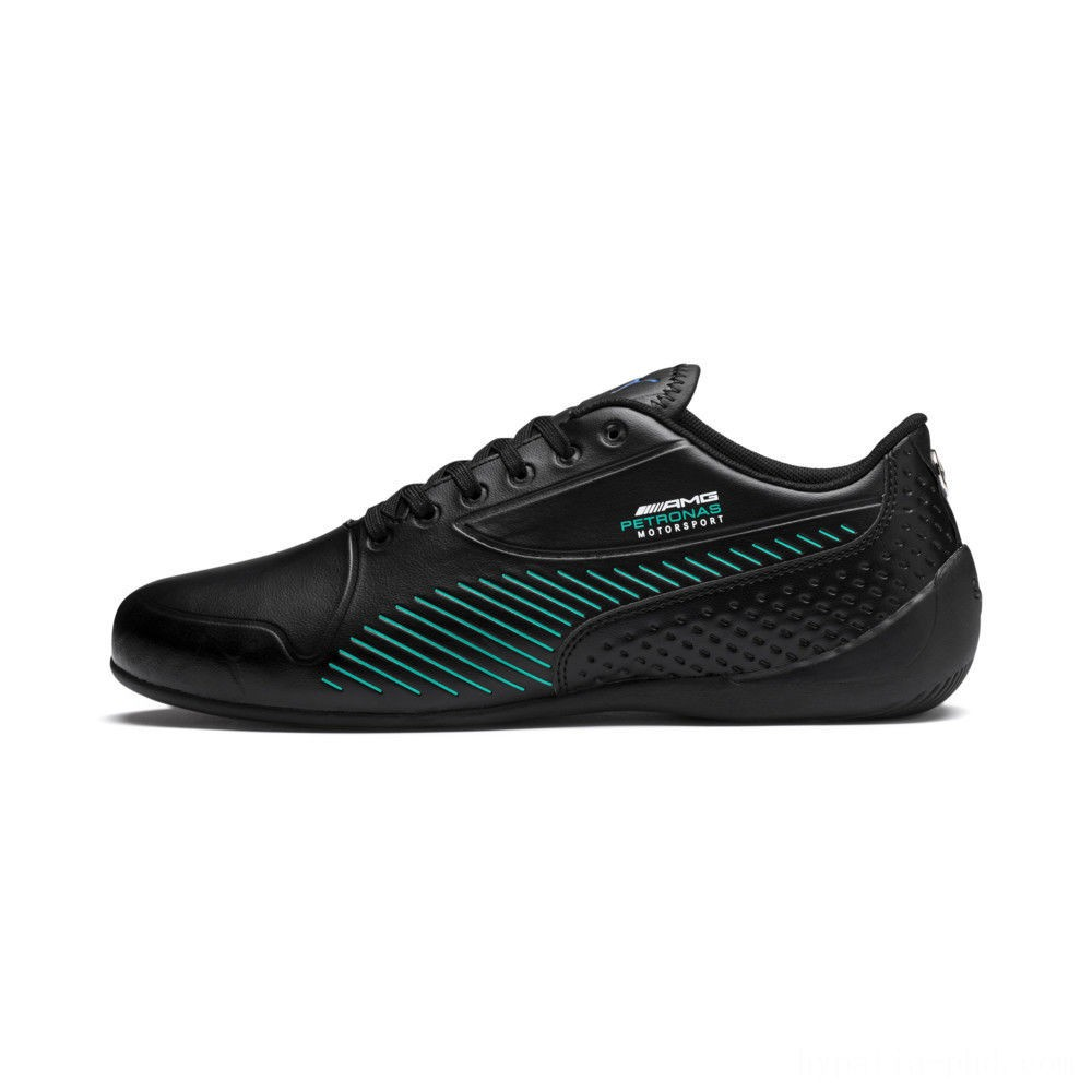 Puma Mercedes AMG Petronas Drift Cat 7S Ultra Black-Spectra Green Sales