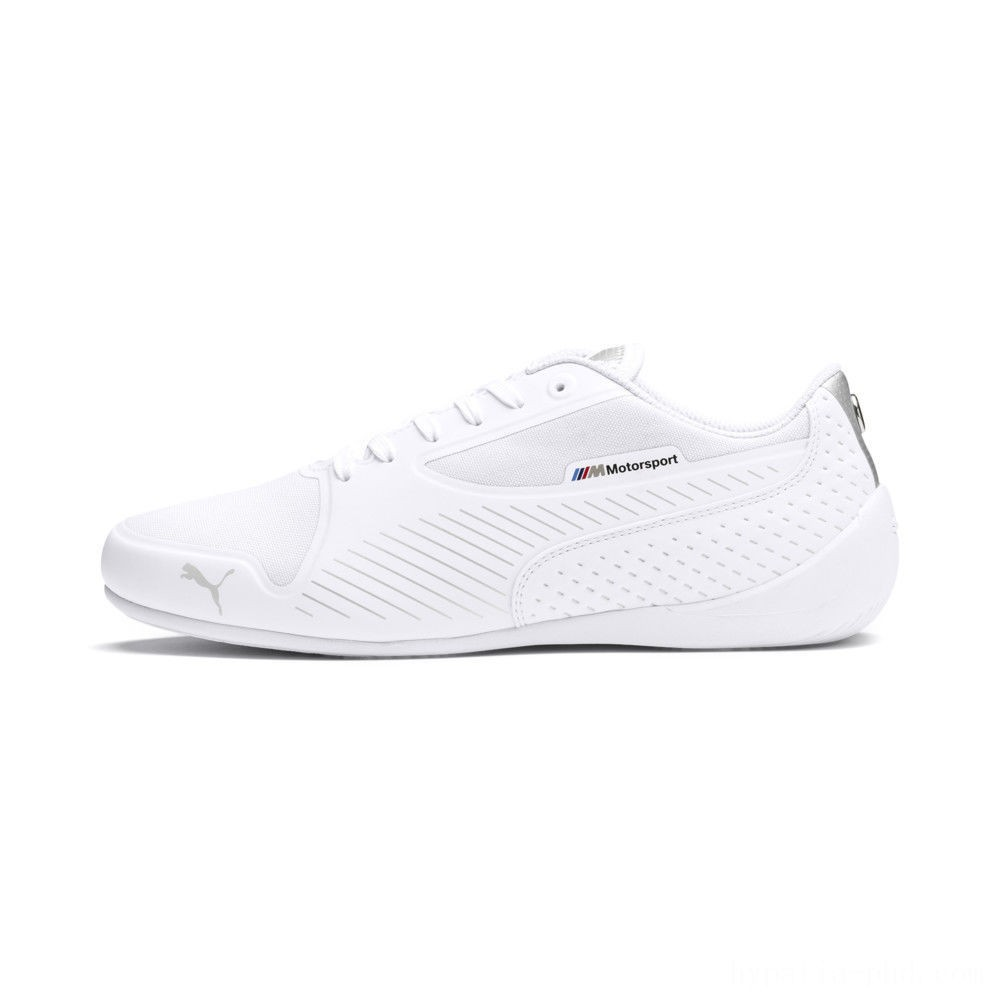 Puma BMW MMS Drift Cat 7 Ultra Shoes White- Silver Sales