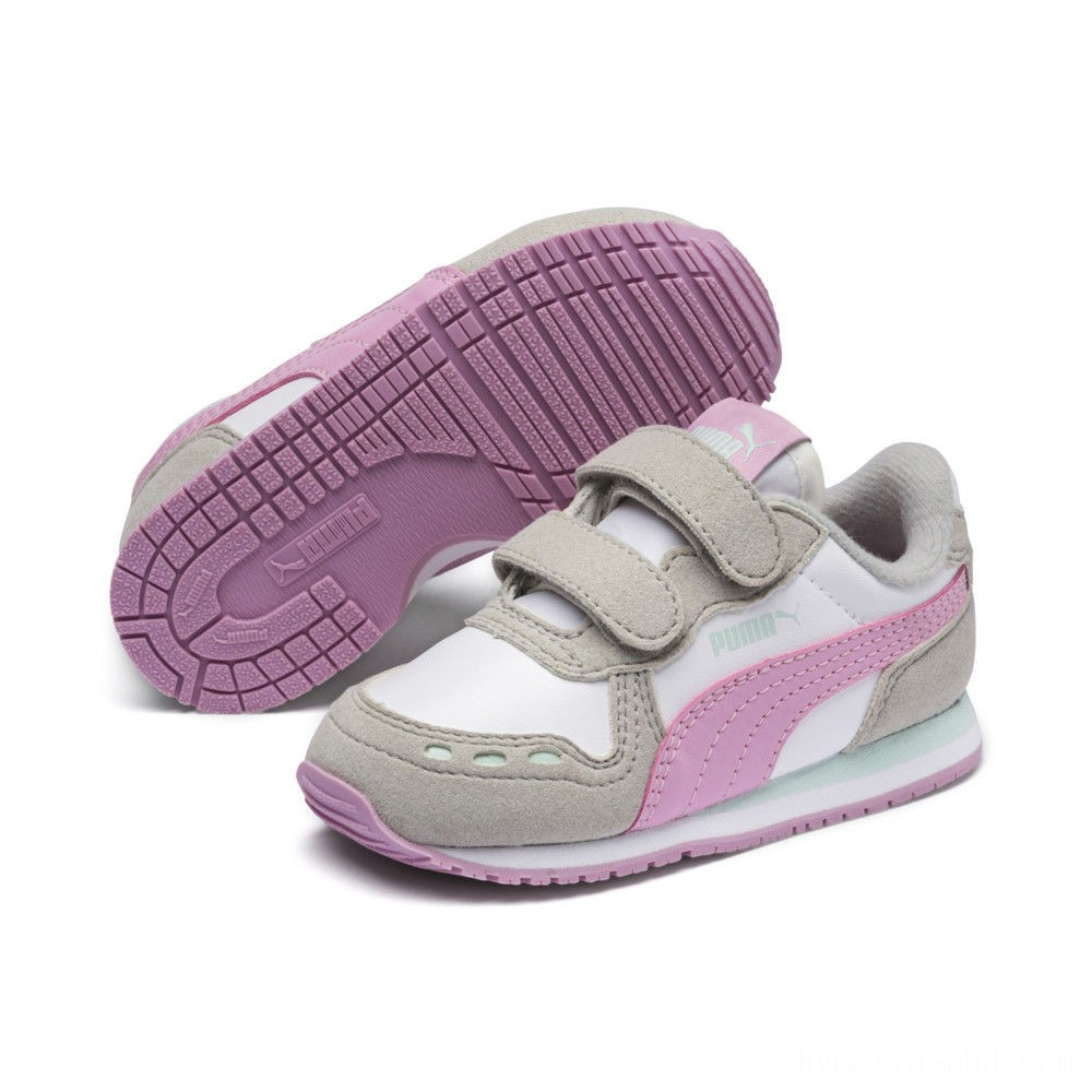 Puma Cabana Racer SL Sneakers INF White-Gray Violet Sales