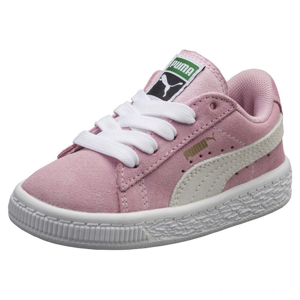 Puma Puma Suede Infant Sneakers Pink Lady- White Sales
