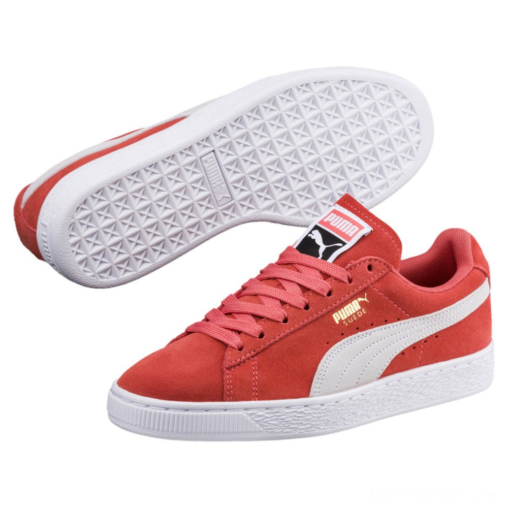 Puma Suede Classic Women's Sneakers Spiced Coral- White Sales