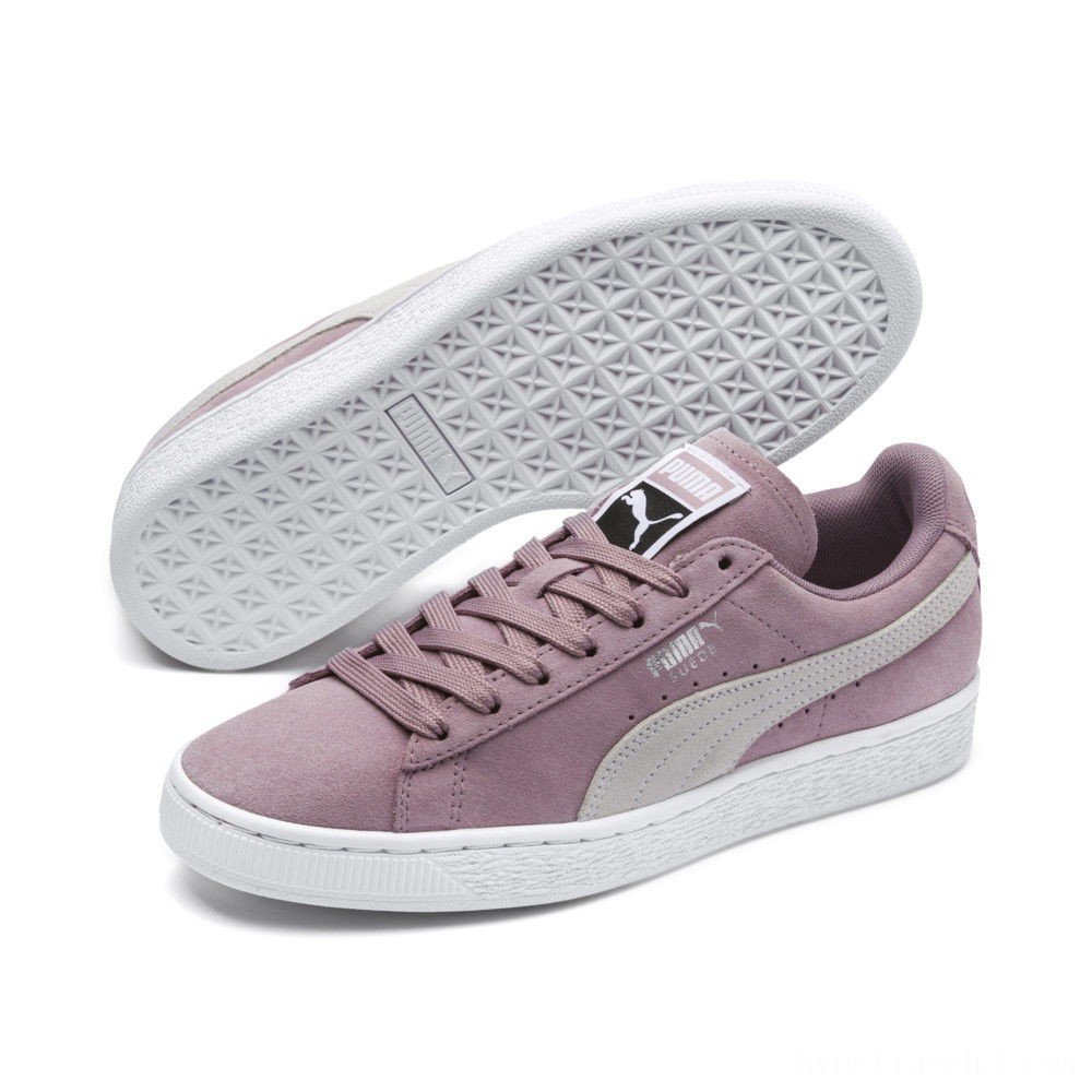 Puma Suede Classic Women's Sneakers Elderberry- White Sales