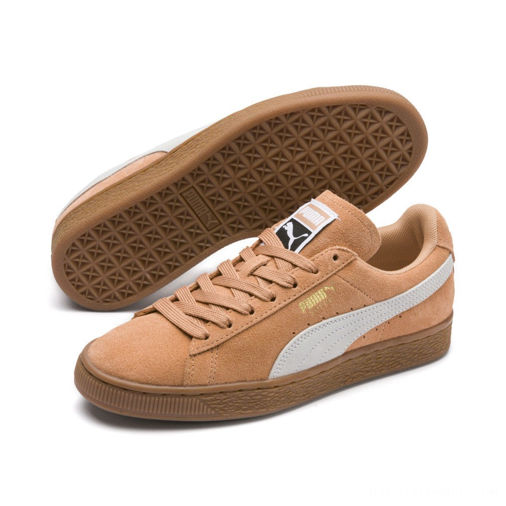 Puma Suede Classic Women's Sneakers Toast- White Sales