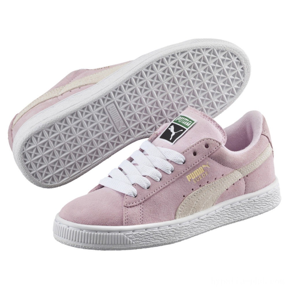 Puma Suede PS Kids' Sneakers Pink Lady- White-P.T. Gold Sales