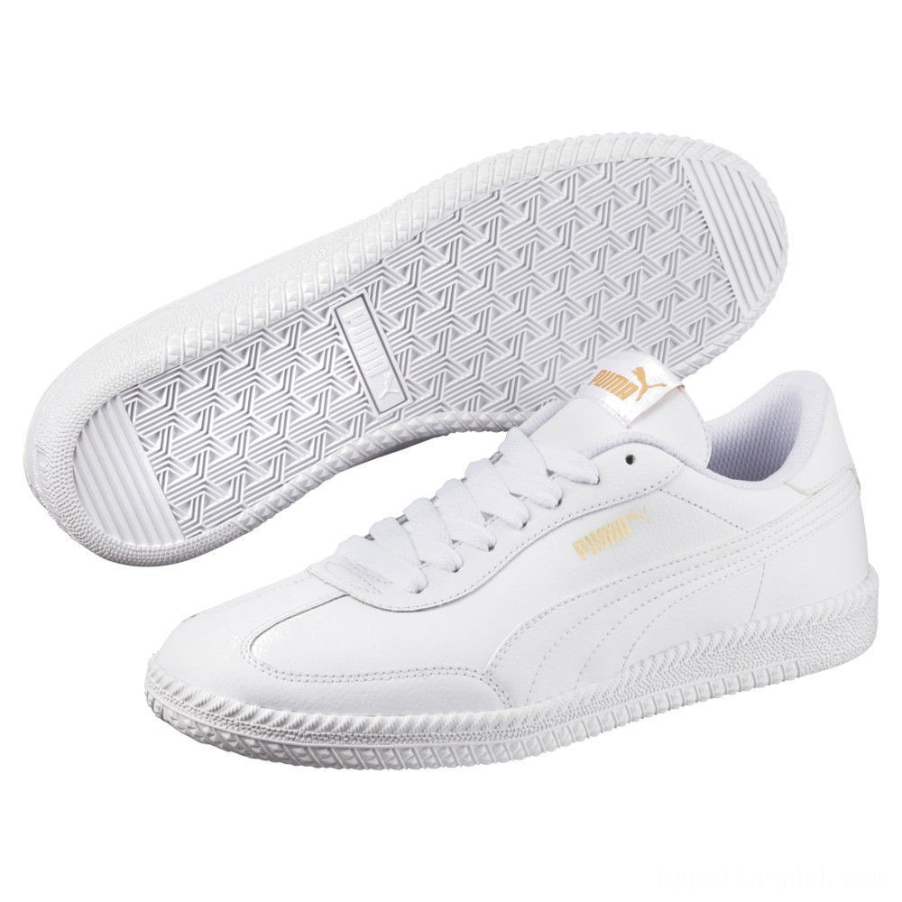 Puma Astro Cup Leather Trainers White- White Sales