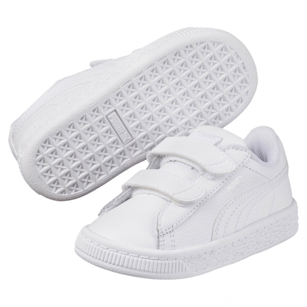 Puma Basket Classic Baby Sneakers White- White Sales