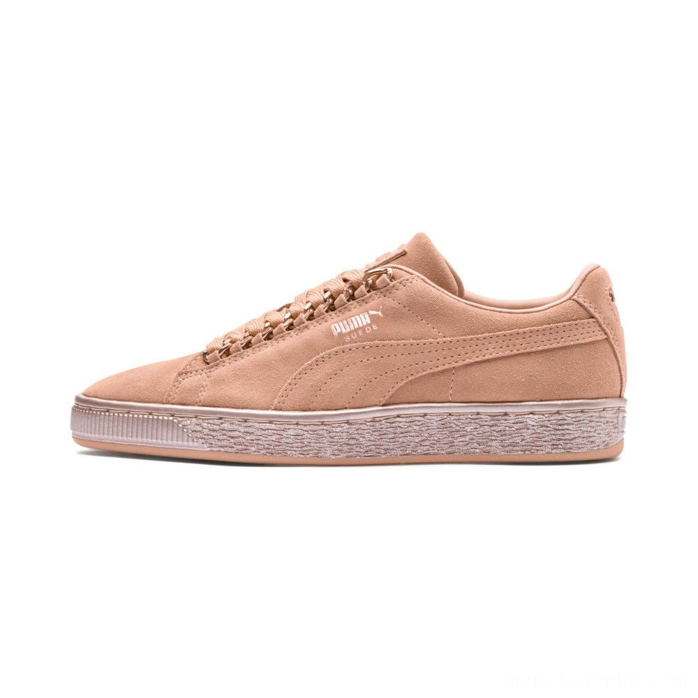 Puma Suede Classic X-Chain JR Sneakers Dusty Coral-Rose Gold Sales