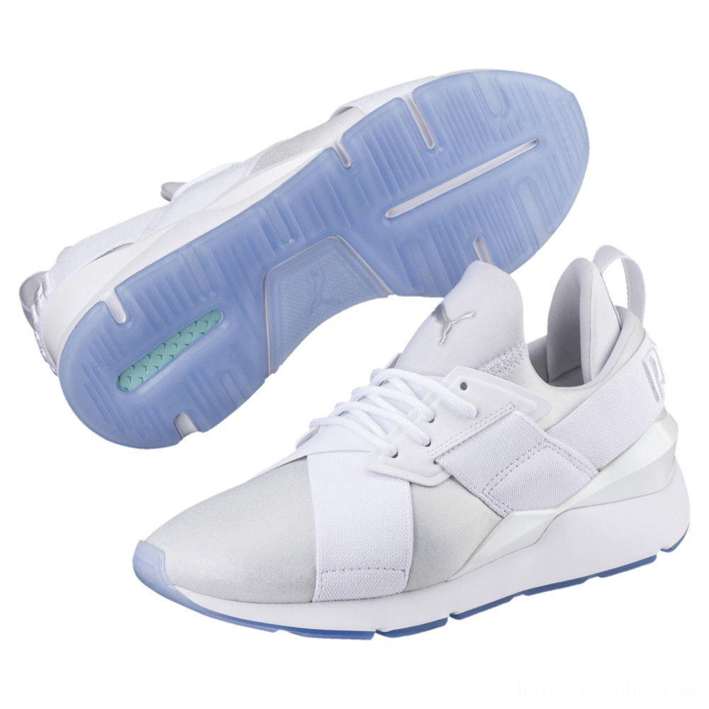 Puma Muse Ice Women's Sneakers White- White Sales