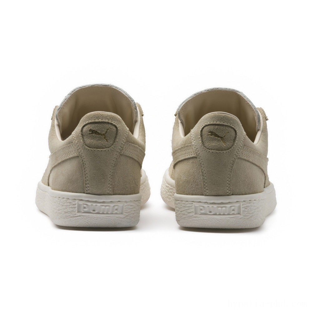 Puma Suede Made in Italy Women's Sneakers Birch- Team Gold Sales