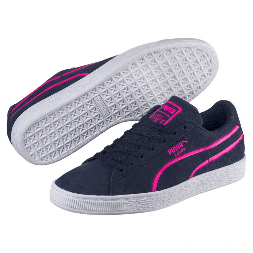 Puma Suede Classic X-Hollows Sneakers Peacoat-PINK-White Sales