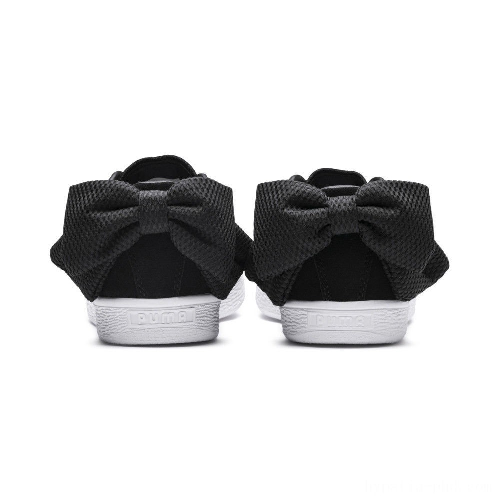Puma Suede Bow Uprising Women's Sneakers Black- White Sales