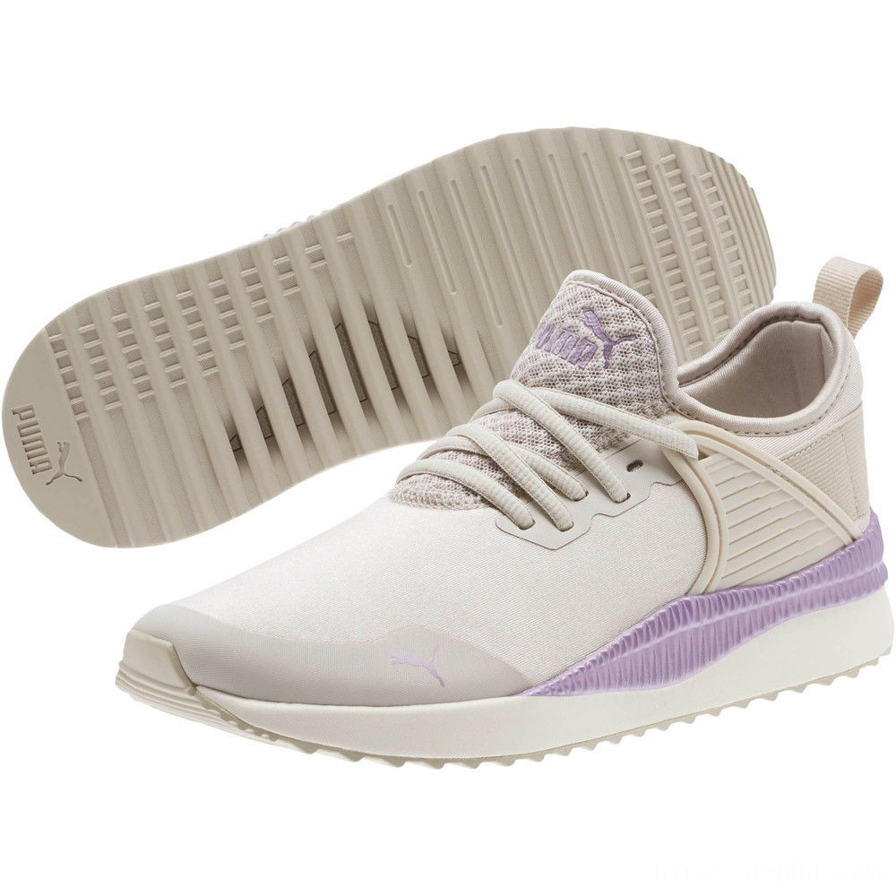 Puma Pacer Next Cage ST2 Women's Sneakers Silver Gray-Metal. Lavender Sales