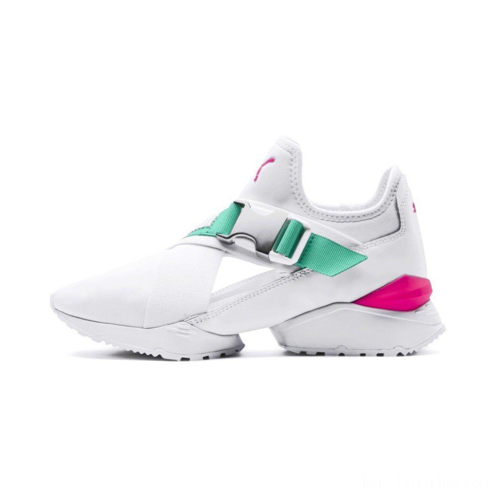 Puma MUSE EOS Street 1 Women's Sneakers White-Biscay Green Sales