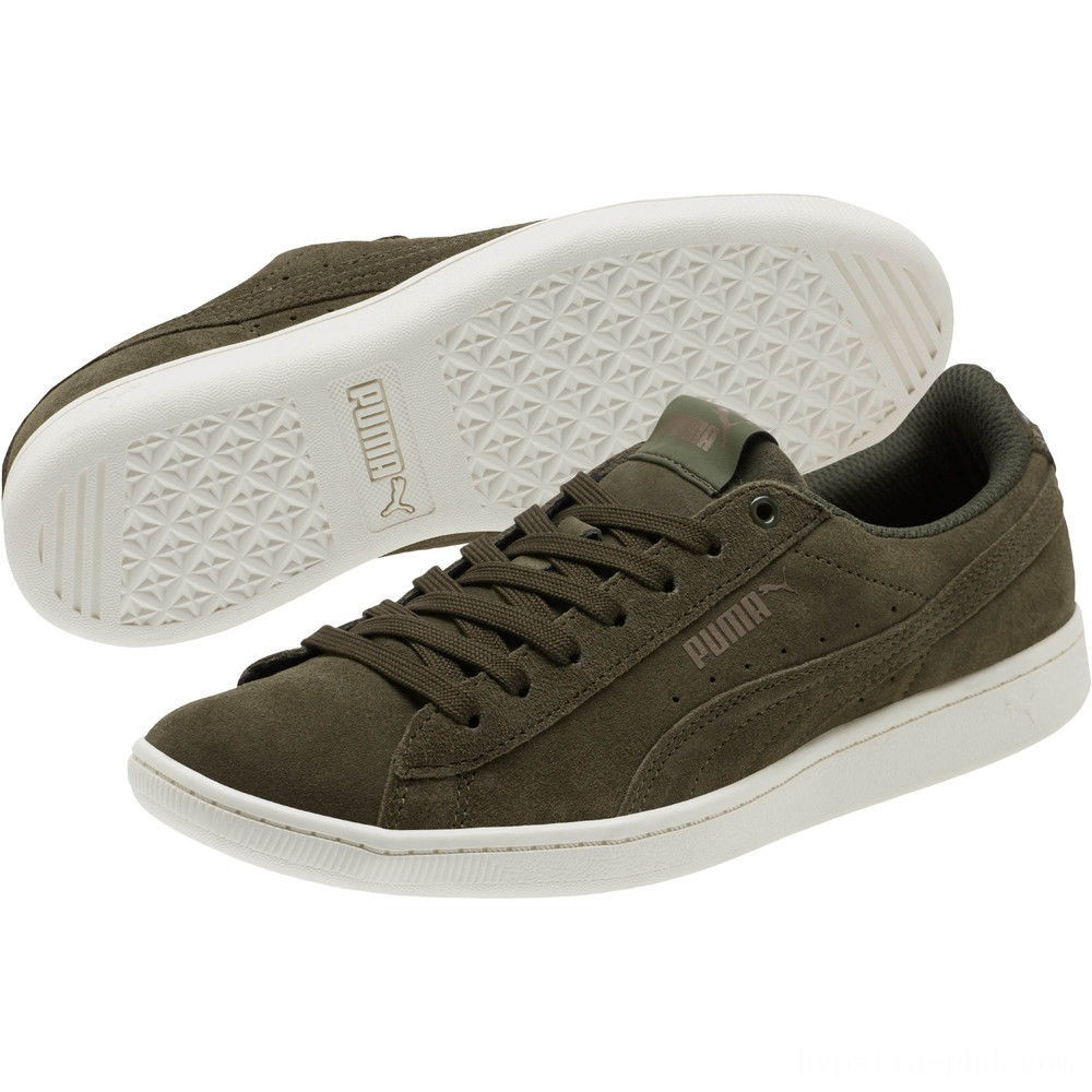 Puma PUMA Vikky All-Over Suede Women's Sneakers Forest Night-Metallic Bronze Sales