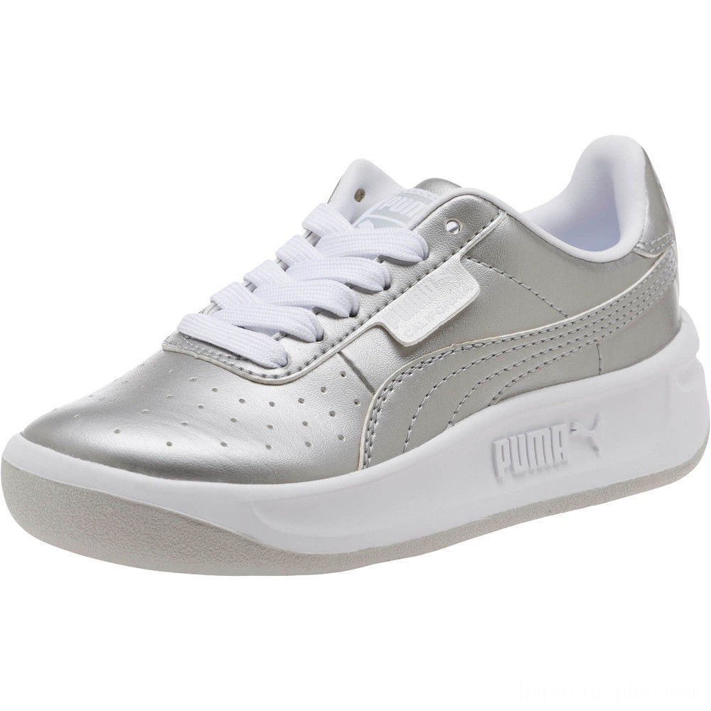 Puma California Metallic Sneakers PSSilver- White Sales