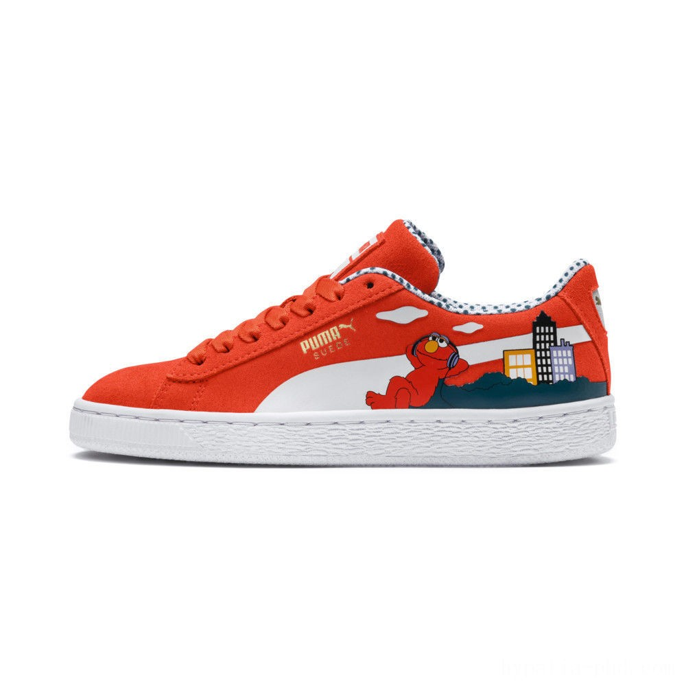Puma Sesame Street 50 Suede Sneakers PSCherry Tomato- White Sales