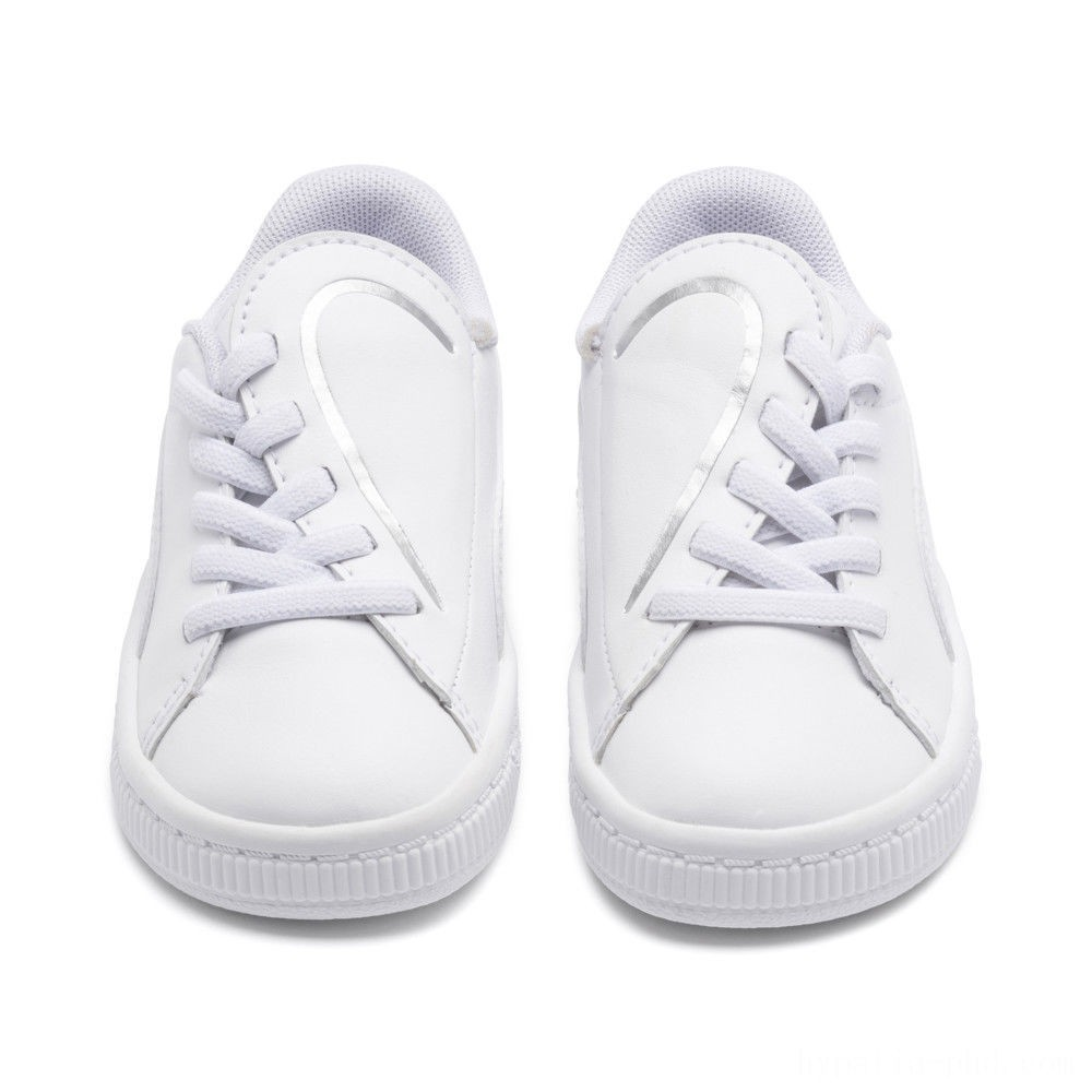 Puma Basket Crush AC Sneakers INF White- Silver Sales