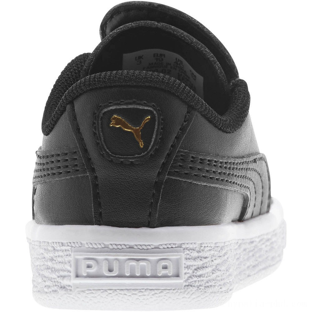 Puma Basket Crush AC Sneakers INF Black- Team Gold Sales