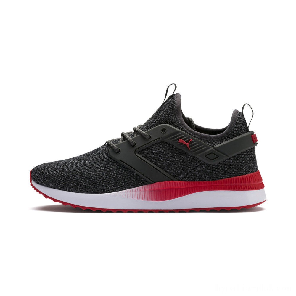 Puma Pacer Next Excel VariKnit Sneakers Dark Shadow-High Risk Red Sales