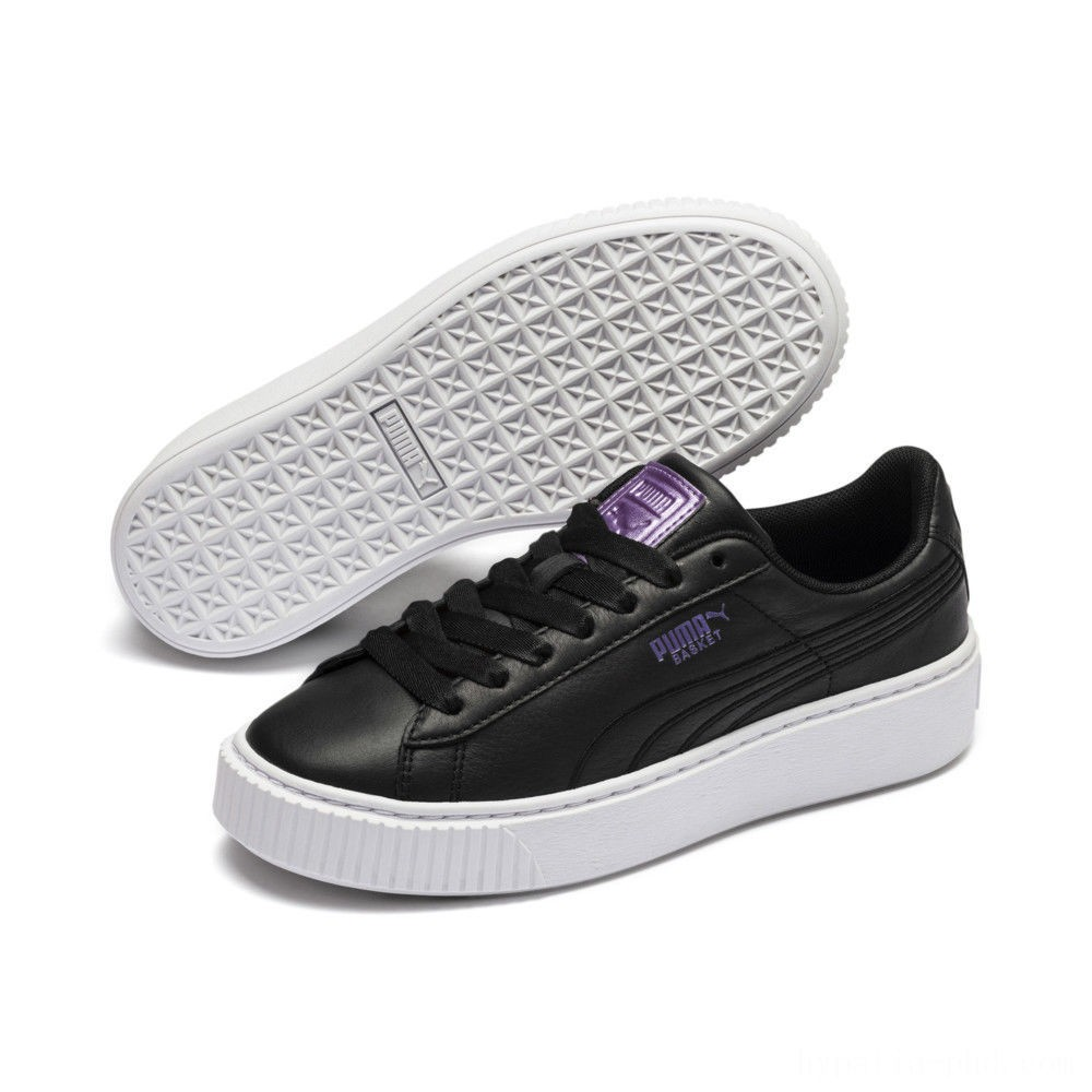 Puma Basket Platform Twilight Women's Sneakers Black-Sweet Lavender Sales