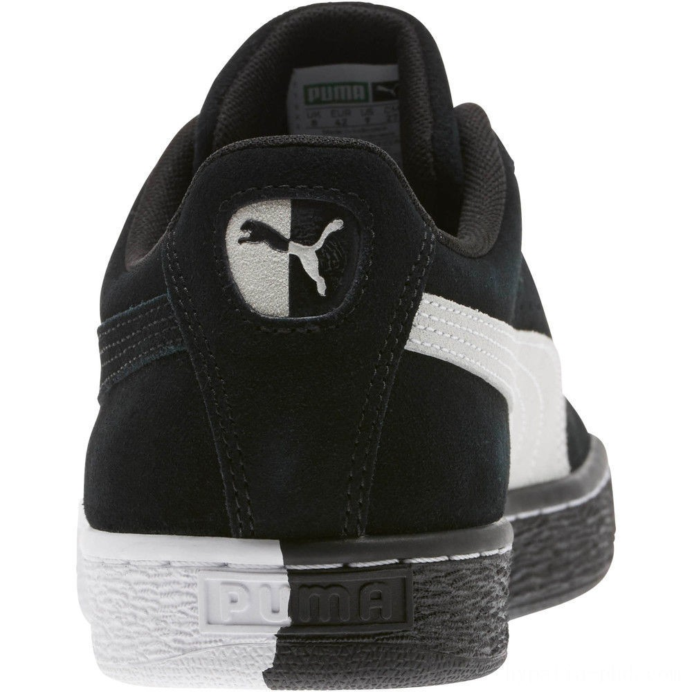 """Puma Suede Classic """"Other Side"""" Sneakers Black- White Sales"""
