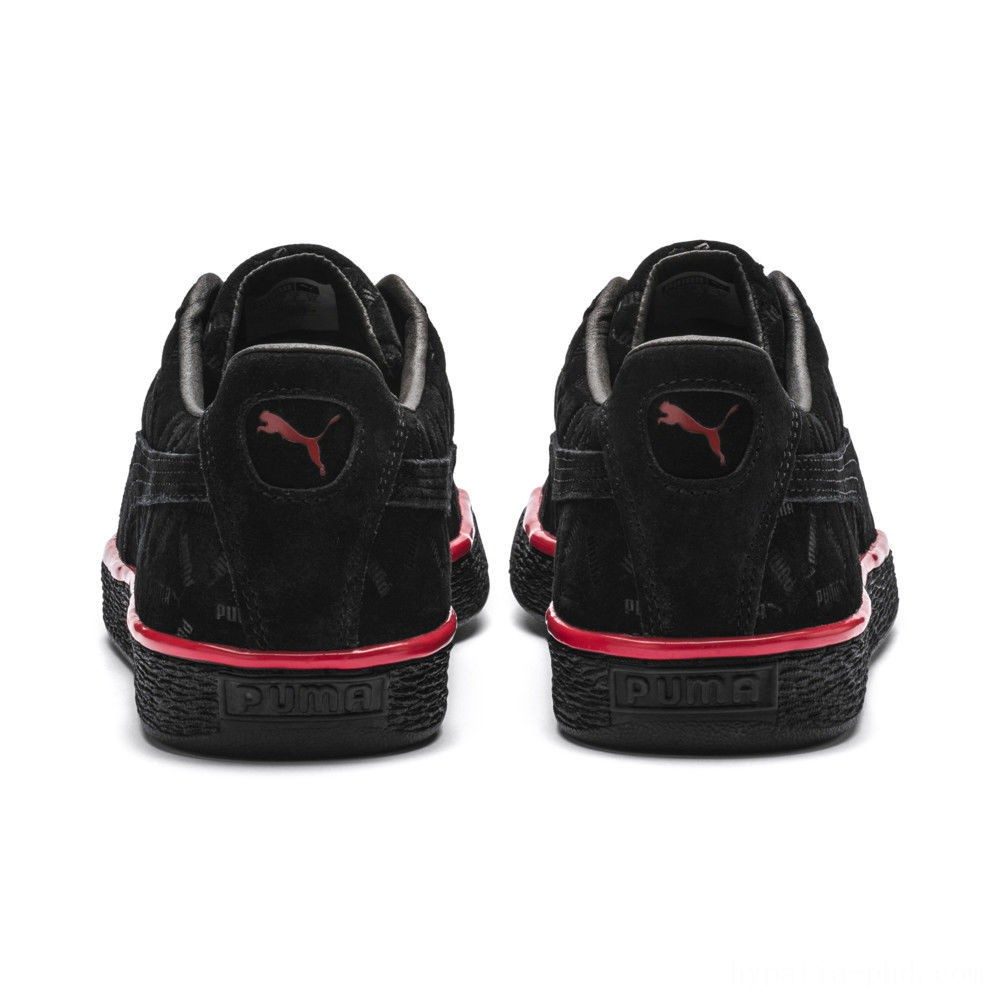 Puma Suede Classic Lux Sneakers Black-High Risk Red Sales