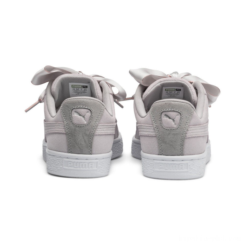 Puma Suede Heart Galaxy Women's Sneakers Gray Violet- Silver Sales