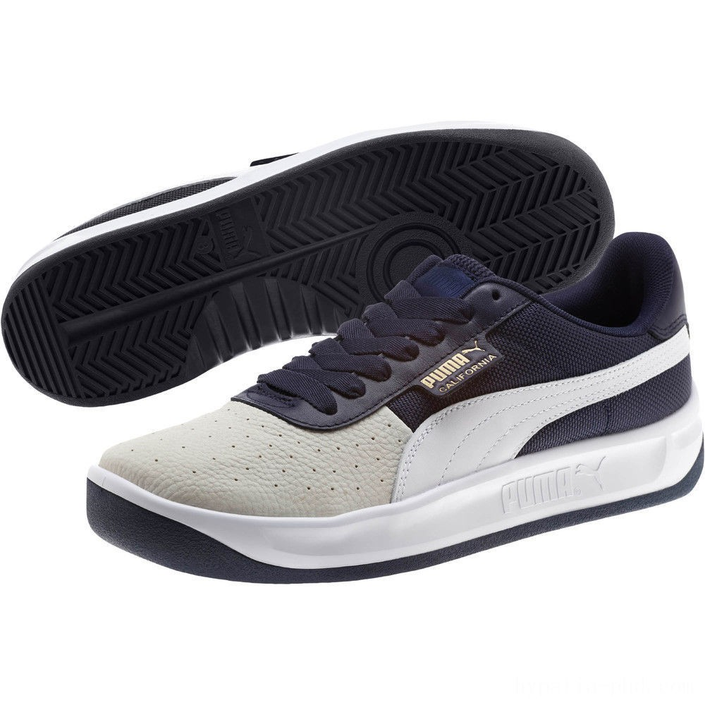 Puma California Sneakers Glacier Gray-Peacoat-PumaWht Sales