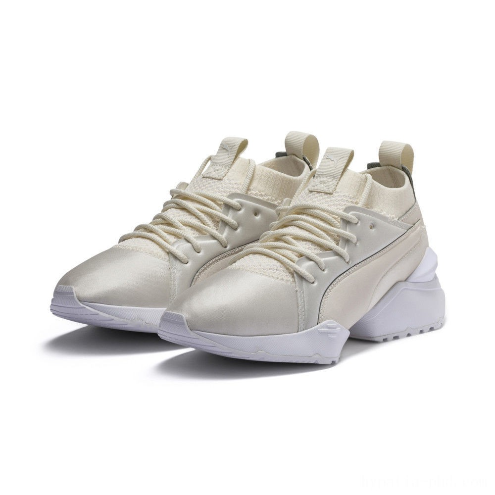 Puma Muse Maia Knit Premium Women's Shoes Whisper White- White Sales