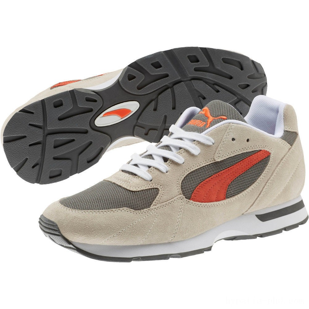 Puma Proclaim Suede Sneakers Silver Gray-Charcoal Gray Sales