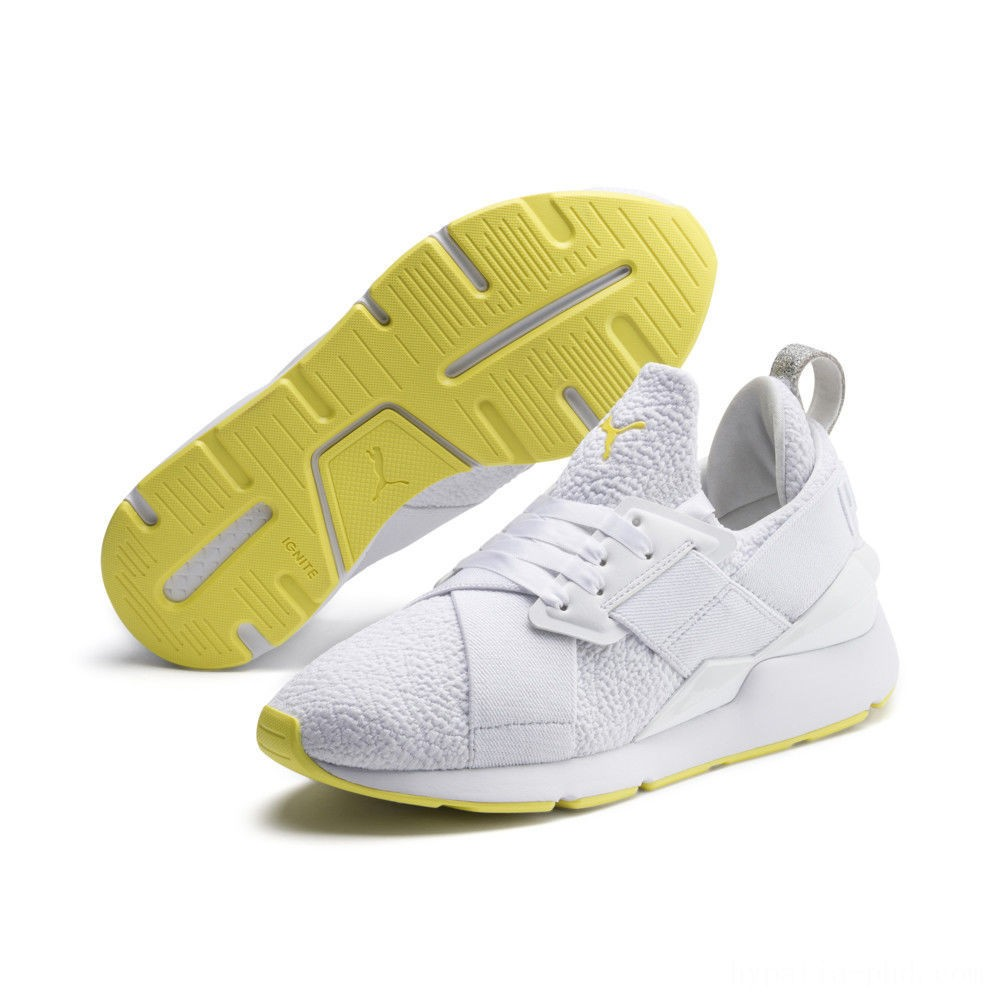 Puma Muse Trailblazer Women's Sneakers White-Blazing Yellow Sales