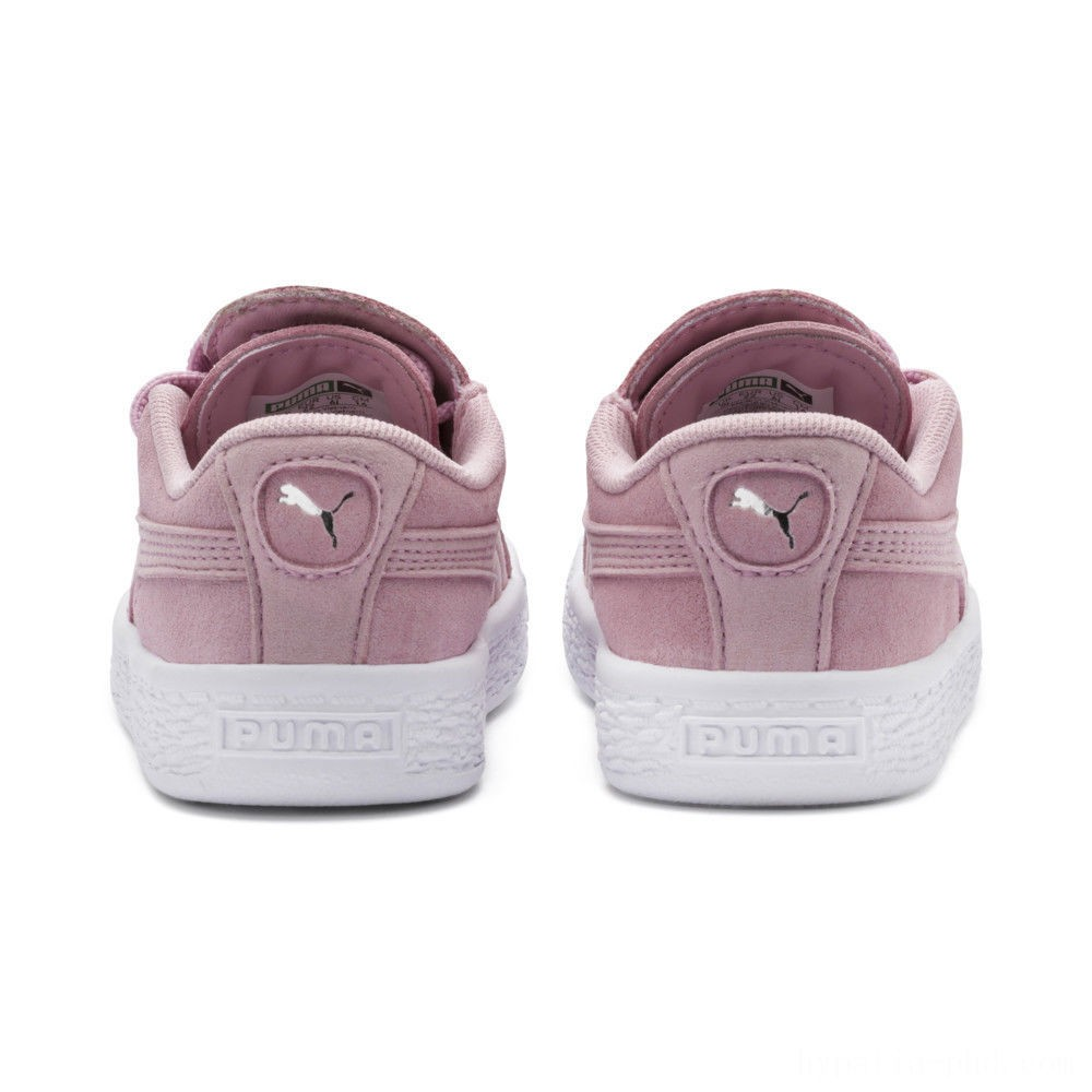 Puma Suede Crush AC Sneakers INFPale Pink- Silver Sales
