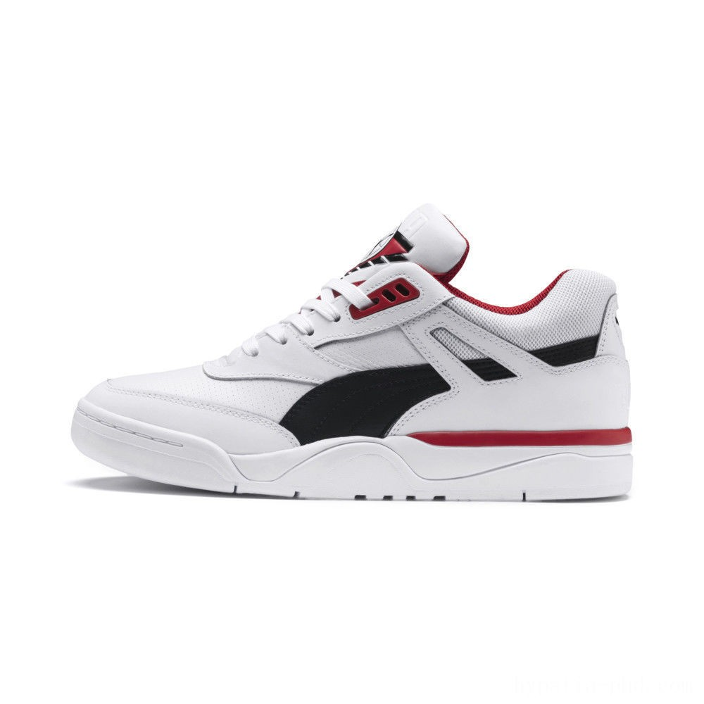Puma Palace Guard Men's Sneakers White- Black-red Sales