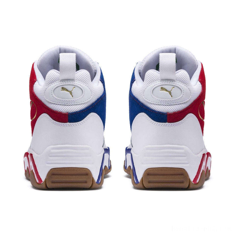 Puma Source Mid Playoffs Sneakers White-Surf The Web- Sales
